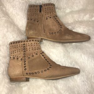 French Connection- Suede studded bootie- Sz 8